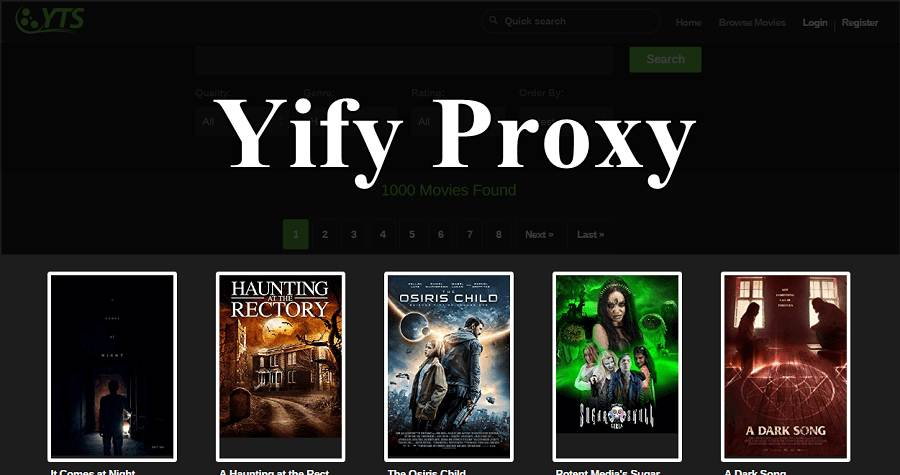 Top YTS Proxy list & YIFY proxy Mirrors to access YTS AG [2019]